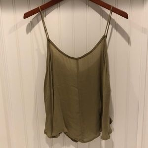 ♥️Free People Intimately line adorable olive cami